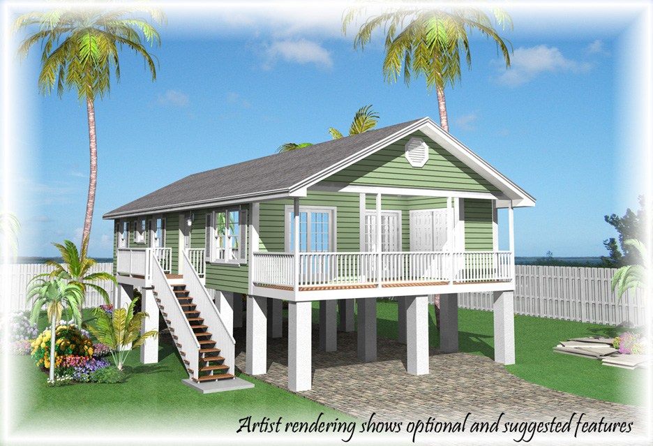 Base price fees options and credits of our homes for Modular stilt homes florida