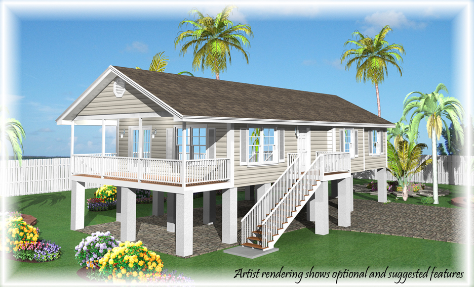 Base price fees options and credits of our homes for Stilt house plans florida